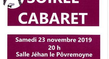 SOIREE CABARET 23 NOVEMBRE 2019 SALLE COMMUNALE DE BOUVILLE