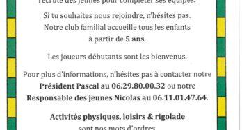 Le FOOTBALL CLUB DE BOUVILLE FREVILLE RECRUTE